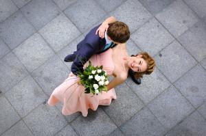 ślub, miłość, para, wesele, kwiaty
