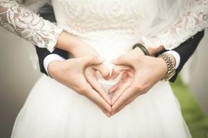 ślub, serce, miłość rodzina