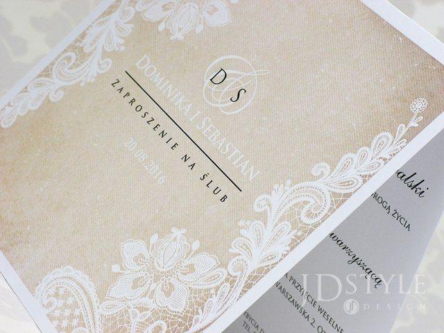 nowoczesne zaproszenia ślubne